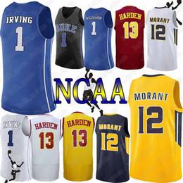 b56cc754f46 Duke Blue Devils College 1 Zion Williamson jersey Murray State College 12  Ja Morant Arizona jerseys State College 13 James Harden jerseys