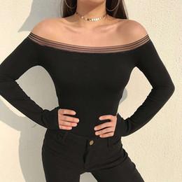$enCountryForm.capitalKeyWord Australia - Off Shoulder Ladies Sexy Jumpsuits Slim Long Sleeve Woman Boysuits Elegant Bodysuit One Piece For Women Black Sports Jumpsuit
