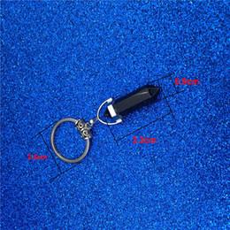 Hexagon Keys Australia - Chakra Hexagon Prism Natural Stone Keychain Key Ring Handbag Hangs Fashion Jewelry Gift K3425