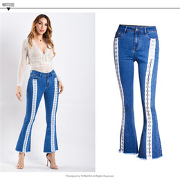 $enCountryForm.capitalKeyWord Canada - Women Skinny Jeans High Waist 2019 Fashion Bell Bottom Jeans Stretching Skinny Denim Flared Blue Women Wide Leg Pants