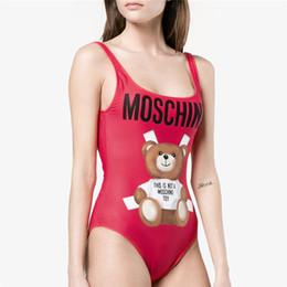 Venta al por mayor de MOSC pequeño oso moda traje de baño bikini para mujer carta marca traje de baño vendaje Bi Quinis traje de baño atractivo
