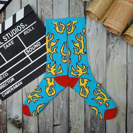 5bdf091ddc40 GOLF WANG Blue Flame Socks Towel Bottom Sports Thickening Cotton Stocking  Fashion Brand Contrast Color Stocking Socks