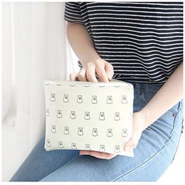 Zipper Closure NZ - Lovely Colorful Cartoon Designer PU Leather Zipper Closure Women's Street Clutch Bag Lightweight Lady Card Purse Girls Wash Bag