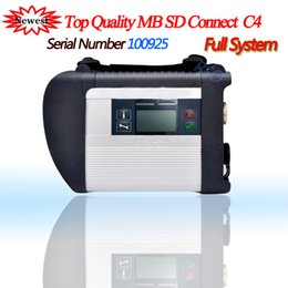 mb star sd compact Australia - A+++ Quality Full Chip NO.100925 software V12.2018HDD MB STAR C4 MB SD Connect Compact 4 Diagnostic Tool with WIFI Function SD 4