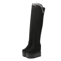 models high boots UK - LTARTA Model Show Wild Skinny Sexy Fashion High Boots 2018 Winter New Nightclub Sponge Cake Thick women's Boots ZYW-2686-3