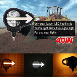 Truck led headlighTs online shopping - Universal loading truck engineering truck led headlights bulldozer LED combination headlights agricultural machinery arrow turn headlights