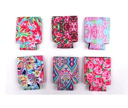 $enCountryForm.capitalKeyWord Australia - Neoprene Beer Can Covers Case Colorful Printing Cups Sleeve Floral Flowers Cup Holder For Summer Can Cooler Cola Cooling Protection B71902