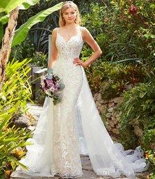 Bride Dresses Skirts Australia - Abiti da Sposa Overskirts Wedding Dresses Lace Wedding Dress Mermaid Bridal Gowns Detachable Skirt Bride Formal Gown