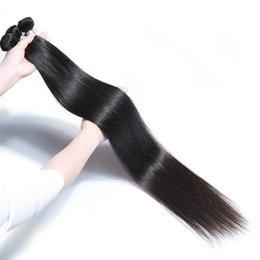 Ingrosso 28 30 32 34 36 40 pollici Bundles diritti dei capelli vergini brasiliani non trasformati 28-40 pollici corpo onda profonda acqua crespi estensioni dei capelli ricci