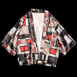 Wholesale three quarter cardigans for sale – oversize 2019 Shirts Men Kimono Traditional Open Stitch Shirt Male Three Quarter Shirt Mens Harajuku Print Cardigan Blouse Oversized XL