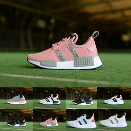 Boys hunting online shopping - New Children s boys girls NMD R1 Baby Kids toddler Shoes red blue bee Crystal sequins trainers city sock sneakers Running Shoes size