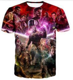 Superhero Shirts Wholesale Australia - New Marvel Avengers 3 Infinity War T Shirt Avenger Thanos Iron Man 3D T-shirt Costume Cosplay Superhero Fashion Streetwear Tee Shirt U1714