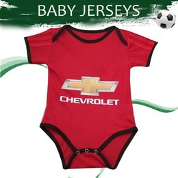 Chinese  Baby Jersey 2020 United Home Red Soccer Jerseys 19 20 Infant Football Shirt #6 POGBA #9 MARTIAL Football Uniform On Sales manufacturers
