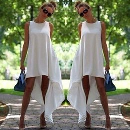 bea4b54337 Stylish Summer Women dress Boho round neck sleeveless solid Evening Party  Ladies Casual Polyester Beach Dresses one pieces