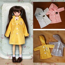 sd toy NZ - D01-P326 children handmade toy 1 6 1 3 1 4 Doll Accessories BJD SD doll clothes Hanging hat raincoat 1pcs