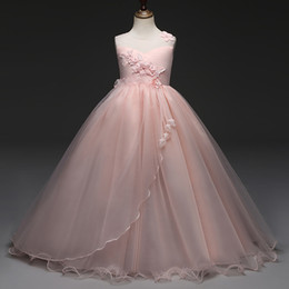 $enCountryForm.capitalKeyWord Australia - Girls Party Dress For Kids Solid Flower Lace Teenagers Long Prom Dress Elegant Ceremonies Wedding 5-14 Years Dresses For Girls Y19061801
