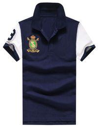 723d4bc730aae5 Angebot 2019 Männer Casual Polo Shirts Big Pony Kurzarm Business Polos  Baumwolle Polo Shirt Drop Shipping.