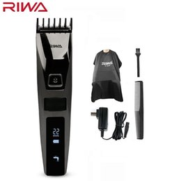 $enCountryForm.capitalKeyWord Australia - Riwa K3 Professional Hair Clipper One Build-in Comb Rechargeable Waterproof Men's Hair Trimmer Machine Cordless Lcd DisplayMX190820