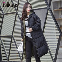 Womens Parkas Australia - Isiksus Padded Warm Down Jackets Womens Winter Plus Size Long Padded Black Hooded Cotton Coat Jacket 2018 Parkas for Women WP017 T190610