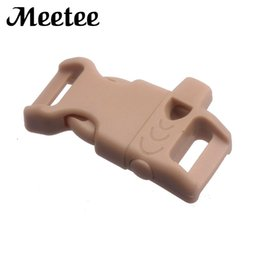 wholesale dog collar buckles Canada - 50Pcs 27MM*46MM Plastic Whistle Buckle For 13mm Webbing Bracelet Dog Collar Strap Outdoor Camping Backpack Clip Buckles F5-5
