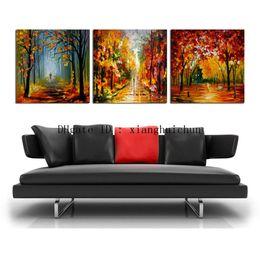 Leonid Afremov Canvas Prints Australia - leonid afremov : Walking Alone -2,3 Pieces Home Decor HD Printed Modern Art Painting on Canvas (Unframed Framed)