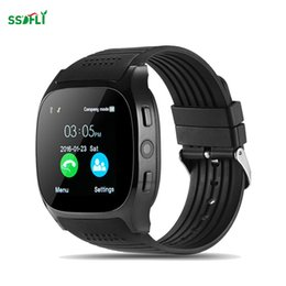 Smart watcheS phone radio online shopping - T8 smart watch support TF card mini Sim card FM radio pulse watch MP camera phone call pedometer sleep monitoring