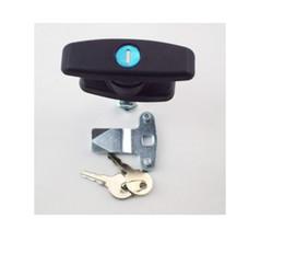 Discount locking cabinet handles - 2PCS Superb T Handle Latch Lock Keyed Alike Black Coated Fit for Cabinets Garage Letter-Box Drawer File Cabinet Wardrobe