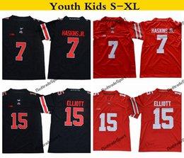 b22f0dea3 2019 Youth Ohio State Buckeyes College Football Jersey Home Red Kids 15  Ezekiel Elliott 7 Dwayne Haskins Jr. Stitched Football Shirts S-XL