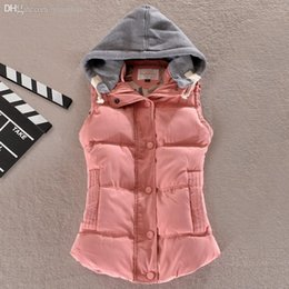 womens vests NZ - Wholesale-Winter 2015 women's cotton wool collar hooded down vest sleeveless jackets plus size quilted vest womens vests outerwear,L-6XL