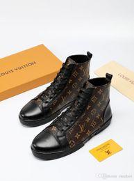 18FW Designers kanvas snekers erkek okul AYAKKABI moda yüksek üst MEN kanvas ayakkabılar unisex spor ayakkabıları 2020 yeni erkek spor ayakkabısı LISY1 indirimde