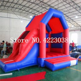inflatable toys castle 2019 - Free Shipping Games trampoline For Children Inflatable Trampoline Bouncy Castle Outdoors Games Toy Inflatable Slide With