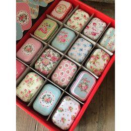 $enCountryForm.capitalKeyWord Australia - 32pcs lot Vintage Flower Printing Mini Tin Box For Jewelry Wedding Favor Candy Decorative Storage Boxes, Cute Coins Tea Case J190713
