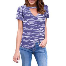 Grils Shirts Australia - Fashion Summer New Arrival Women Casual Camouflage Halter Short Sleeve Summer Fashion Grils Tops T-shirt Tee NN2