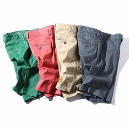 Men S Skirts Canada - Summer Brand Mens Fashion Soft Cotton Solid Shorts Men Summer Elastic Shorts Male Bermuda Casual Board Short Man Plus Size