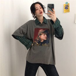 Women's Clothing Flight Tracker New Womens Clothing Ulzzang Korean Hipster Harajuku Animal Dragon Chinese Print Turn-down Collar Loose Fashion Casual Shirts