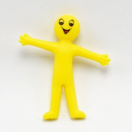$enCountryForm.capitalKeyWord NZ - 100pcs New Anti Stress Squeeze emoji Fun Novelty Gag Toy TPR soft gel expression yellow villain can pull the little man doll toy