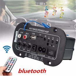 Freeshipping 30 W Amplificador Board Amplificador de Áudio USB Bluetooth dac FM rádio Subwoofer TF Player DIY Amplificadores Para Carro Da Motocicleta em Promoção