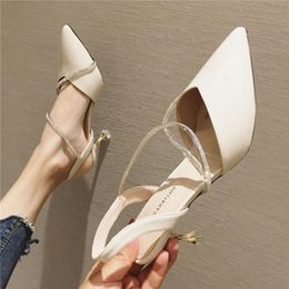 $enCountryForm.capitalKeyWord Australia - Fine heels and high heels fairy wind 2019 Summer new style ladies wear sandals with bare light pointed single shoes and two pairs of sandals