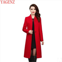 Discount middle age women clothing - YAGENZ Middle-aged Women clothing New product Qiu dong outfit Cashmere coat Medium long Large size high-grade cashmere c