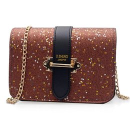 Handbags Bling Australia - 2019 Hot Fashion Girls Women Letter Hasp Flap Bag Retro Female Bling Sequins Bag Crossbody Bag Handbag