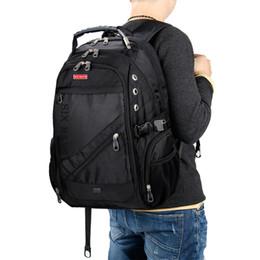 $enCountryForm.capitalKeyWord NZ - 2019 Hot Sale Men's Travel Bag Man Swiss Backpack Polyester Bags Waterproof Anti Theft Backpack Laptop Backpacks Men Brand Bags Y19061004