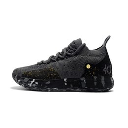 7ab30261d035 Mens kd 11 basketball shoes for sale splattered gold black youth kids kd11  kevin durant xi sneakers boots with box