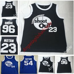 293e6c952 Men's Moive Tournament Shoot Out 23 Motaw Wood Jersey 54 Kyle Watson Duane  96 Birdie Tupac Above The Rim Costume Double basketball shirts