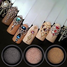 Nails Beads Australia - 0.6mm Mini Small Stainless Steel Beads Nails Art Gun Grey Rose Gold Caviar DIY Nail Beads Decorations Studs CH026
