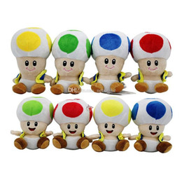 wholesale stuffed mario mushroom Australia - New style 17cm 7 inch Super Mario Plush toys cartoon Super Mario Mushroom head Stuffed Animals for baby Christmas gift shipping by DHL