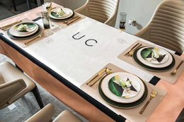 Luxury Kitchens Designs Australia - Luxury Design G Letter tablecloth cotton&linen waterproof Dining room Kitchen Decorative Cloth No static flowers table cloth.