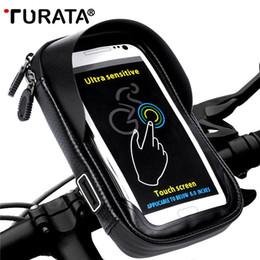 $enCountryForm.capitalKeyWord Australia - Turata 6.0 Inch Bike Bicycle Waterproof Cell Phone Bag Holder Motorcycle Mount For Samsung Galaxy S8 Plus iphone 7 Plus lg V20 T190620