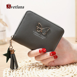 $enCountryForm.capitalKeyWord Australia - Small Butterfly Wallet Women Short Purse Slim Mini Wallet Girls Cute Clutch Bags Card Holder Portefeuille Femme