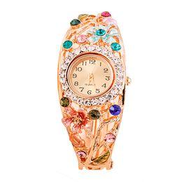 Sale Watches UK - Hot Sale Fashion Luxury Creative Leisure Women Watches Stainless Steel Belt Rhinestone Quartz Watch Ladies Gift Clock Watches#S