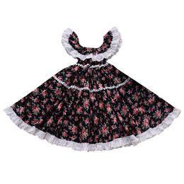 Princess chest online shopping - Girl Off Shoulder Dresses Beach Pleated Knee Length Broken Flower Long Dress Kids Designer Dress Girls Wrap Chest Princess Dresses